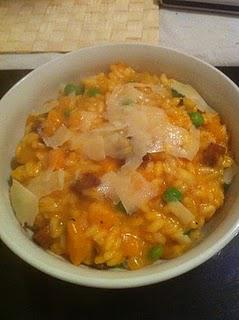 Chorizo and Squash Risotto