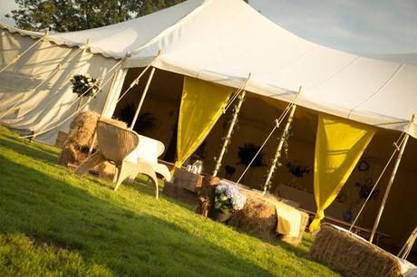 wedding tent from Posh Frocks and Wellies