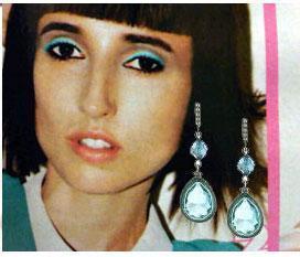 underwater blue drop earrings