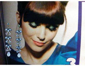 long blue vines earrings