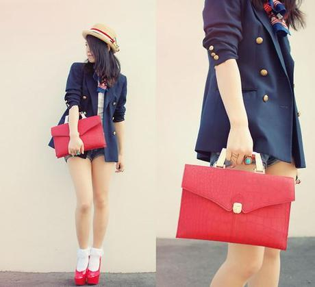 fashion red accents
