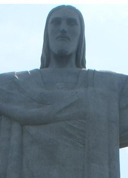 The statue of Cristo Redentor - Christ the Redeemer - in Rio de Janeiro