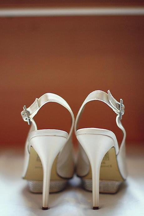 and strappy wedding shoes