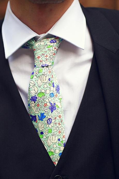 Ben's tie is a detail I love - all the little flowers and dots of colour