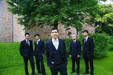 Ben and his groomsmen