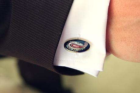 I love the paisley cufflinks, they're fab