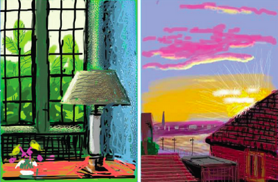 Pixels over Paint: Hockney's iPad Art