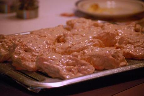 This weekend's tandoori chicken based on Nom Nom...