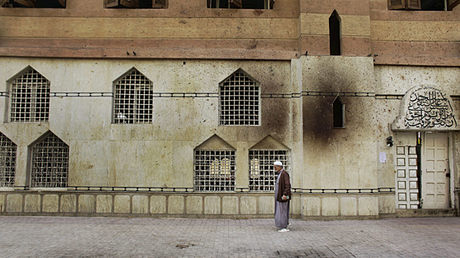 Cairo mosque opposite of bomber church