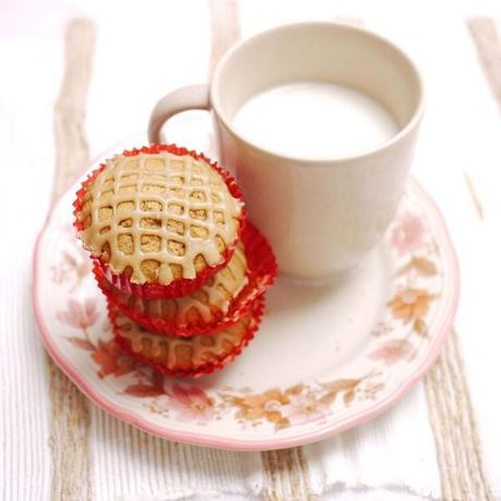 Mini Brown Sugar Muffins with Coffee Glaze