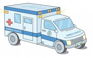 image of an ambulance for human generosity