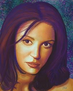 Shannon Elizabeth Portriat in Painter
