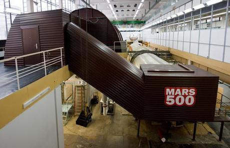 Mars 500 Crew Landing on Fake Mars