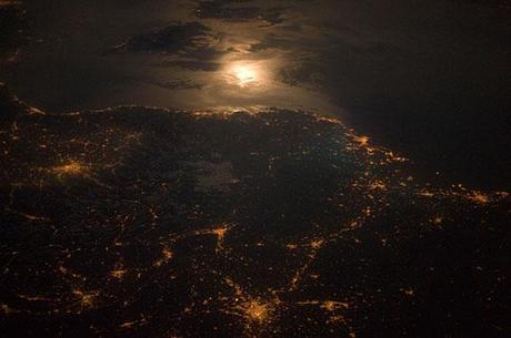 French - Italian Border At Night