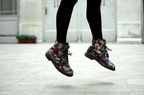 doc martens in floral