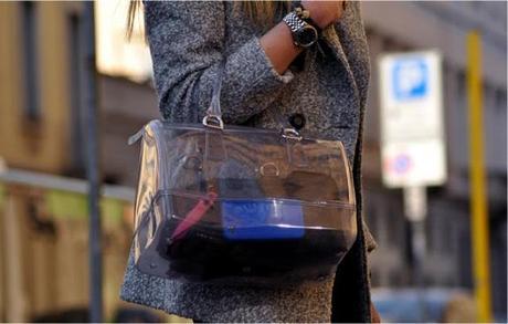Furla Black Pebbled Leather 'Taormina' Shoulder Bag 109