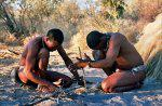 Bushmen Starting A Fire
