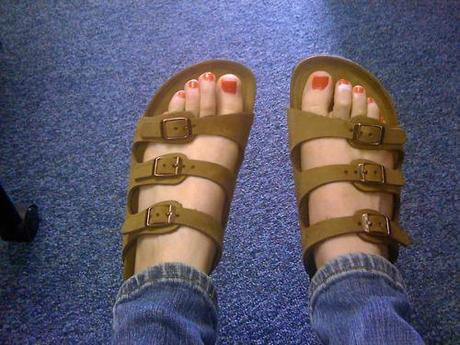 Got my Birkenstocks in the mail yesterday from Fourth Ave...