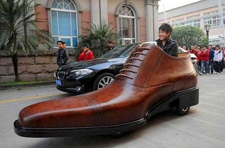 Giant Shoe Car