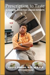 picture of oncologist on cookbook about eating well when you have cancewr