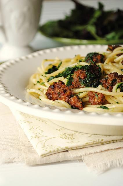 Spinach and Sausage Pasta