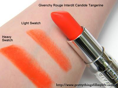 Would you dare to wear Orange Lipstick? Givenchy Rouge Interdit Satin Lipstick in Candide Tangerine