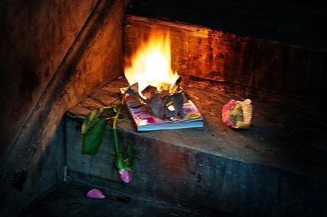 wedding magazines - they burn well