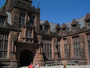 Courtyard of East Pyne Hall, Princeton Univers...