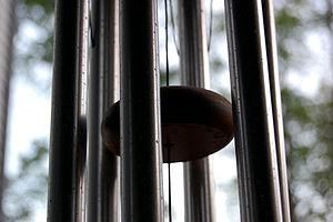 Wind chime close-up