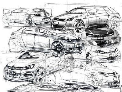 VW research sketches by Akos Szaz