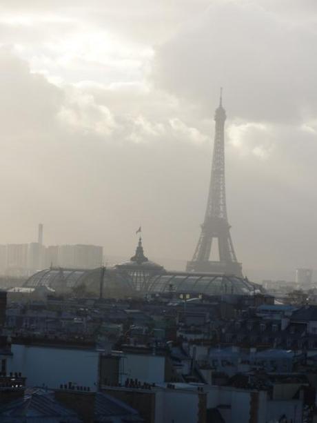 Eiffel tower from Printemps Dept store on bvd Haussmann. Another...
