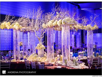 crystal decorations for weddings cinal and taju s fabulous reception decor paperblog 3207