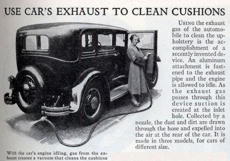 Use Car's Exhaust To Clean Cushions