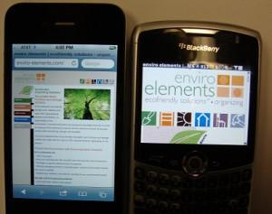 Difference between iPhone and Blackberry when it comes to a website