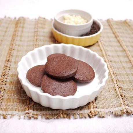 Sleek, glossy Chocolate Cookies