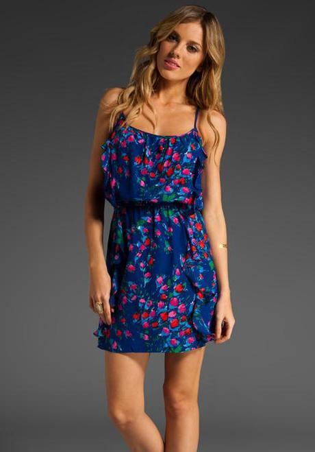 parker blue floral dress