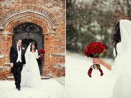Snowy winter wedding from Craig Williams Photography