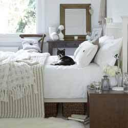 Creating a space with whites/neutrals, and dark accents