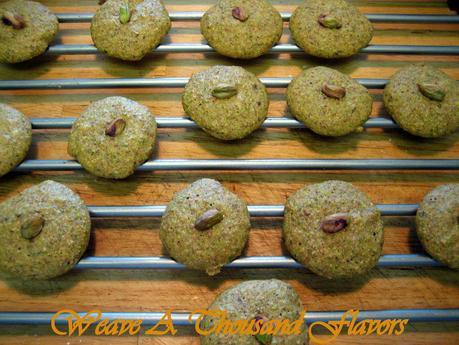 Pistachio Tea Biscuits