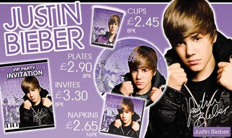 Picture of Justin Bieber the Party Range from Party Options