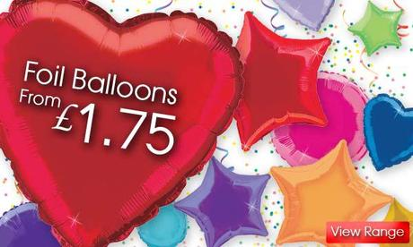 Heart, Star & Round Foil Party Balloons