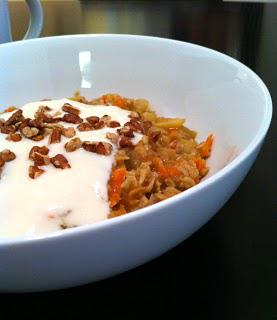 carrot cake oatmeal, take 2