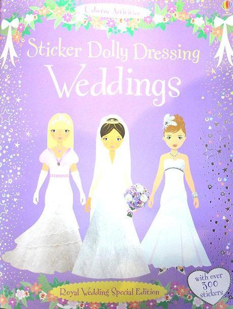 Sticker Dolly Dressing Weddings - Royal Wedding Special Edition