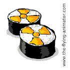 radioactive sushi gif animation japan earthquake