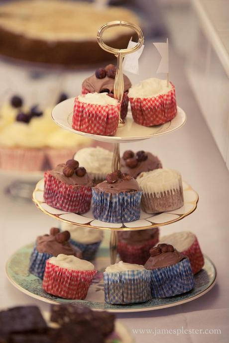 Wedding cupcakes in red, white and blue