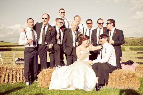 A super cool wedding party