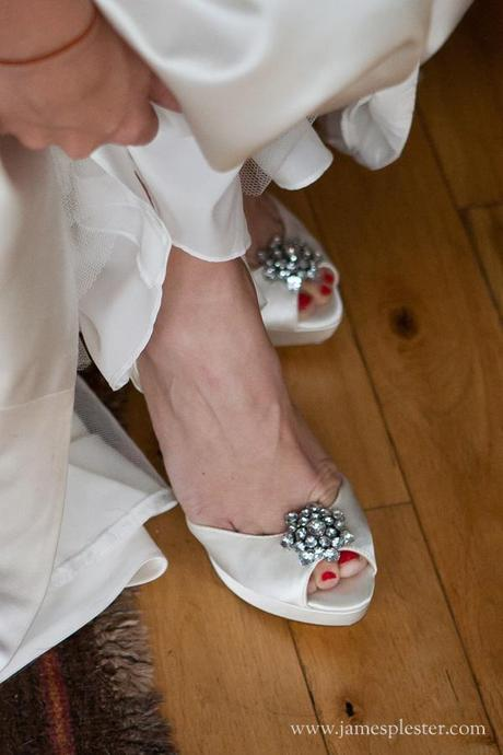 Emma's bridal shoes are lovely