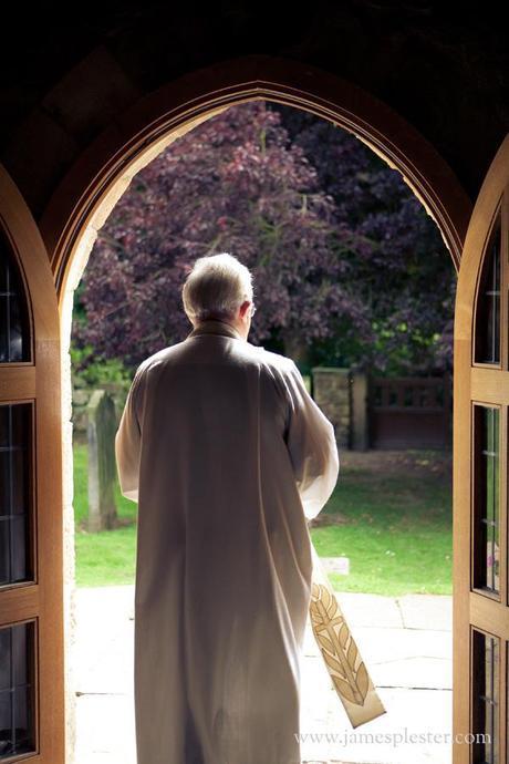 Sun shines down on the vicar...