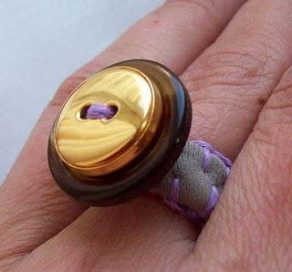 Fabric Button Ring