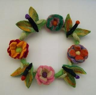 Felt Decorative Wreath or Candle Wreath - Made to order only!